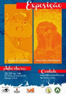 Exposição de Amanda Daphne e Mauricio Alexandre