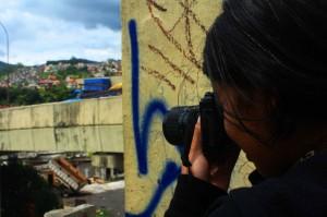 Aluna de Fotografia Pinhole e Reflex no Quilombaque